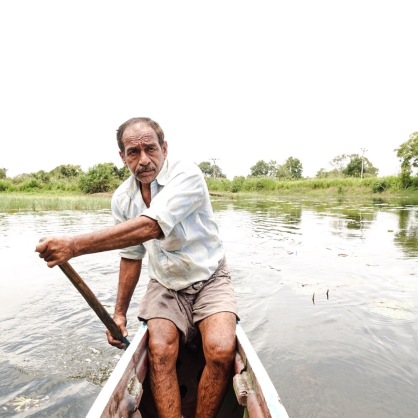 Boat, Row, Lake, Sri Lankan Man, Taxi
