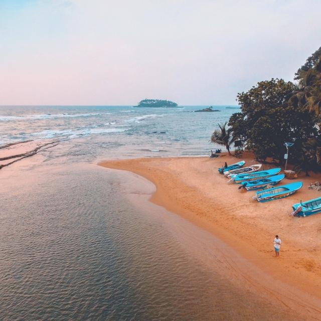 drone footage bentota beach sri lanka travel