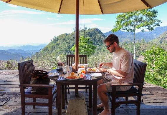 98 Acres Resort, Ella, Sri Lanka, Breakfast, Mountains, View