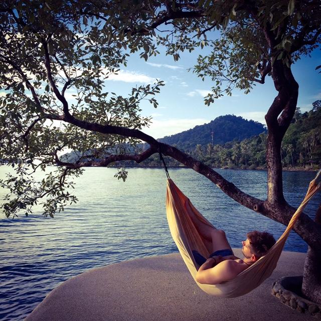 hammock sleeping in koh chang thailand