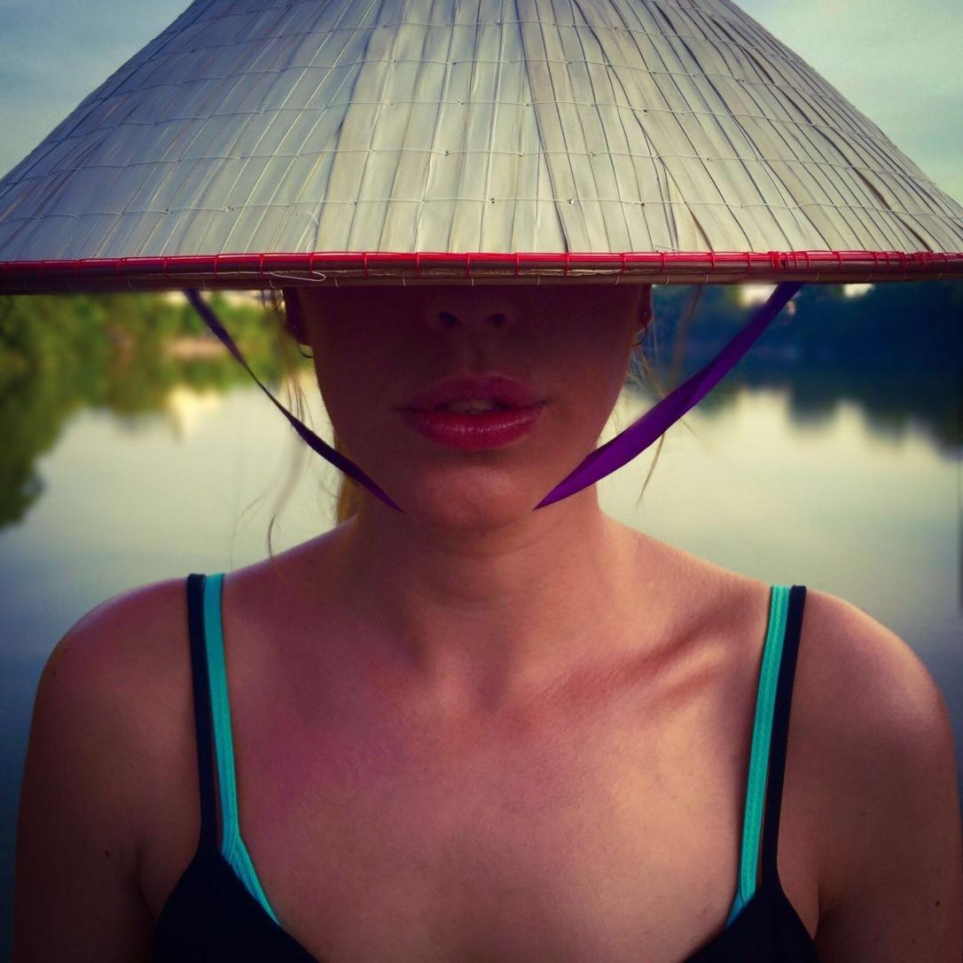 Vietnamese hat selfie