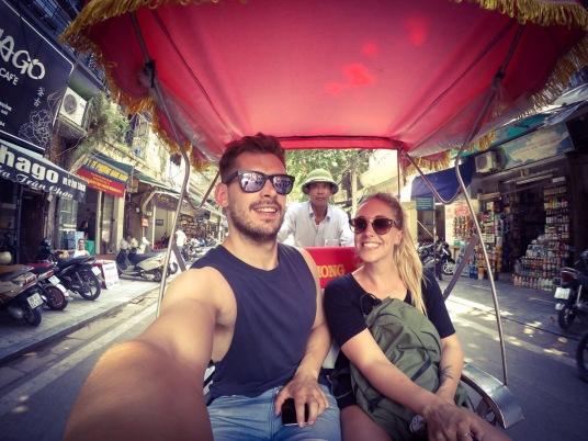 Hanoi cyclo selfie Vietnam