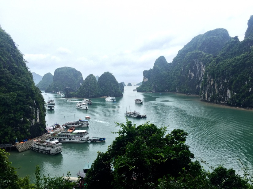 the views of Halong Bay Vietnam with Caves