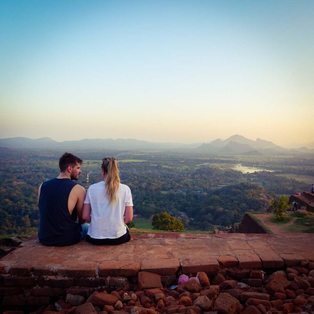 sunset views from lion rock sigiriya sri lanka