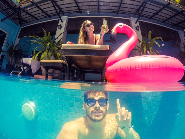 Siem Reap Selfie GoPro Dome Cambodia