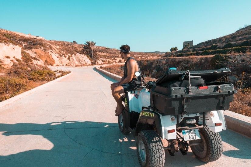 quad biking Gozo Azure Window