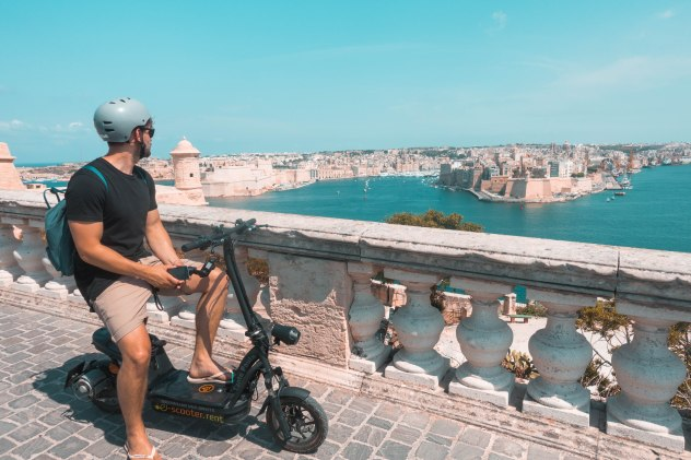 Exploring, Valletta, City, Scooter, Transport