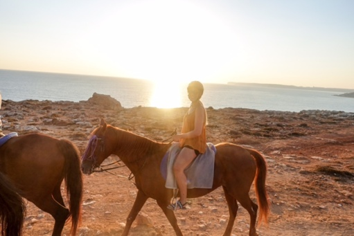 Horse Riding, Mellieha, Malta, Beach, Sunset, Views
