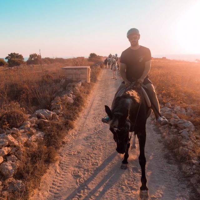 horse riding on the beach in Mellieha Malta