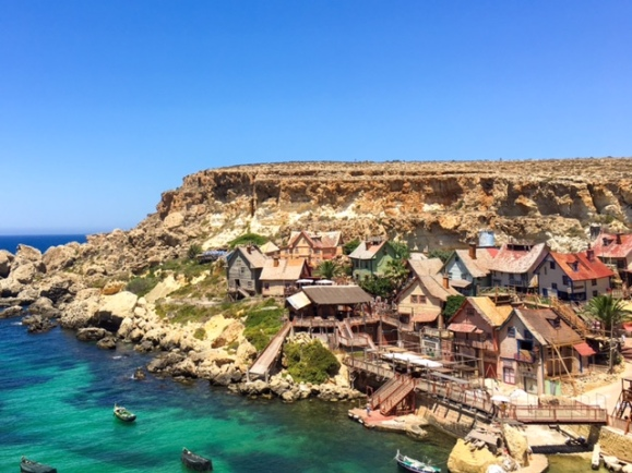 Popeye Village, Malta, Views, Cliffside