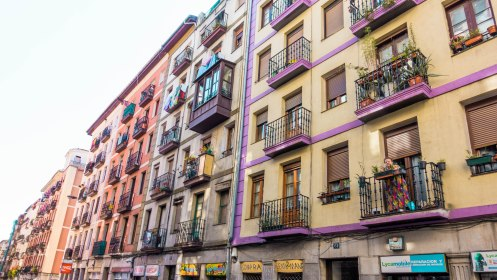 crazy cool architecture, colourful, Bilbao, Spain, Europe