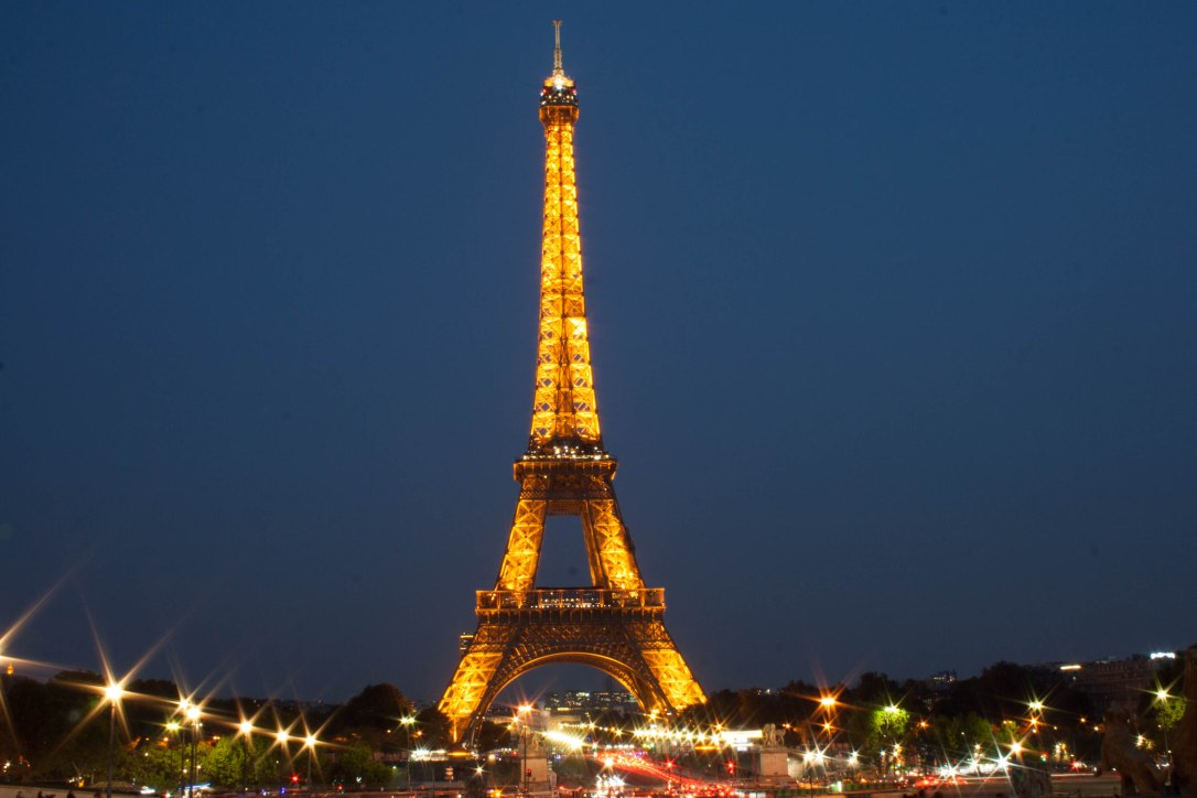 Eiffel Tower, Paris, Night, City, City Break