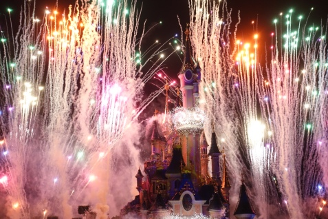 Disneyland, Paris, Fireworks, Light Show, Amazing