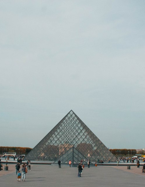 Lourve Museum, Paris, Building, City, Triangle, Mona Lisa
