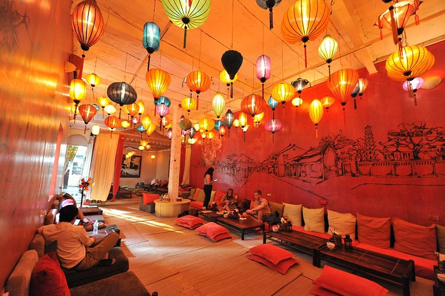 Hanoi, Bar, Chillout, Vietnam, Lanterns, Restaurant