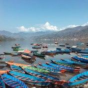 Pokhara, Nepal, Lakeside, Boats, Views, Mountains