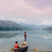 Lakeside Pokhara, Nepal, Mountains, Lake, Fishing, Boys, Salt and Coconuts, Find Louis