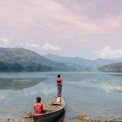 Lakeside Pokhara, Nepal, Mountains, Lake, Fishing, Boys, Salt and Coconuts, Find Louis