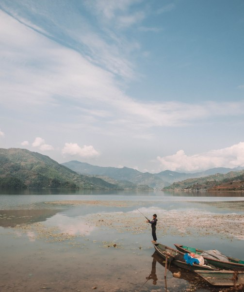 Lakeside Pokhara, Nepal, Views, Beautiful, Mountains, Fishing, Boy, Boats, Stunning