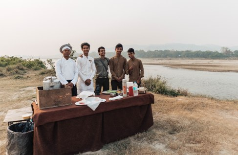 Private Chef, Private Waiters, Chitwan, Nepal, Jungle, Breakfast