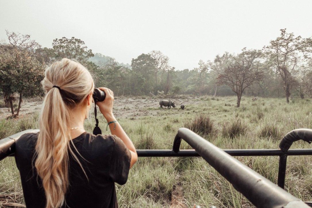 Jeep Safari, Barahi Jungle Lodge, Nepal, Rhinos