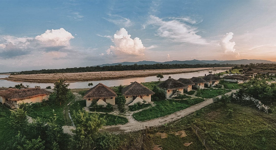 Chitwan National Park, Nepal, Drone, Accommodation, River, Views, Landscape