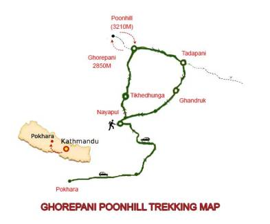 Diagram, Trek, Map, Nepal, Annapurna Circuit
