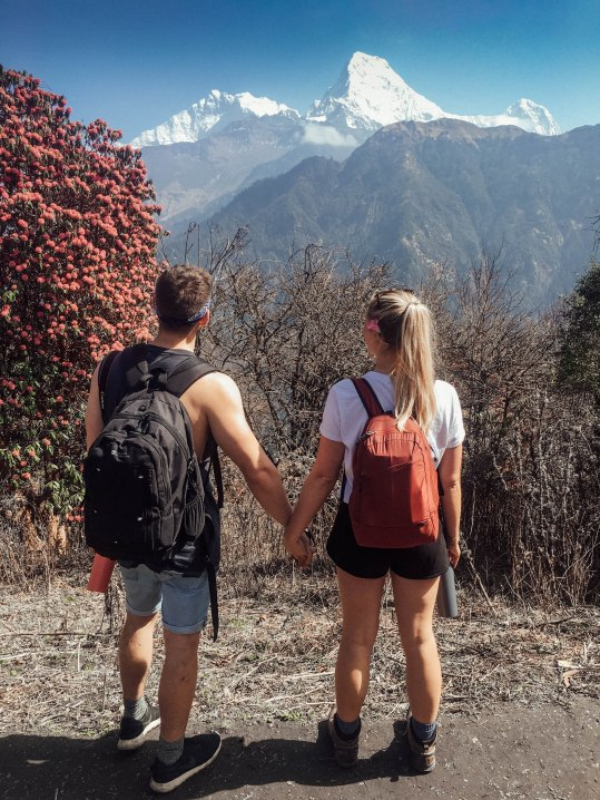 Mountain Trekking, Nepal, Couple, Love Fiancé, Views, Landscape, Salt and Coconuts, Find Louis, couple goals, Brighton couple