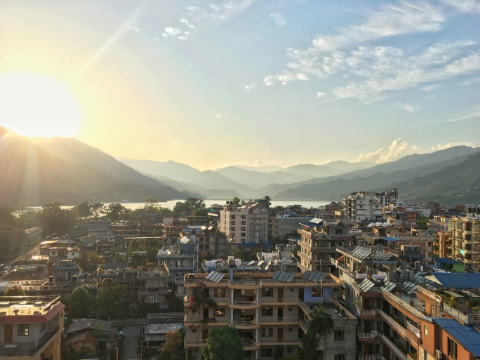 Mountains, Views, Rooftop, Skyline, Pokhara, Nepal