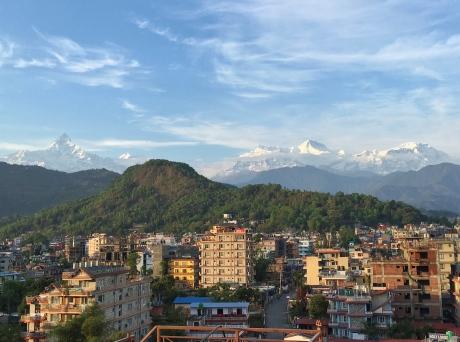 Pokhara, Rooftop, skyline, View, Mountains, Nepal