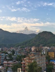Pokhara, View, Mountains, Rooftop, Hotel, Sunset, Landscape, Beautiful