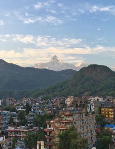 Pokhara, View, Mountains, Rooftop, Hotel, Sunset, Landscape, Beautiful