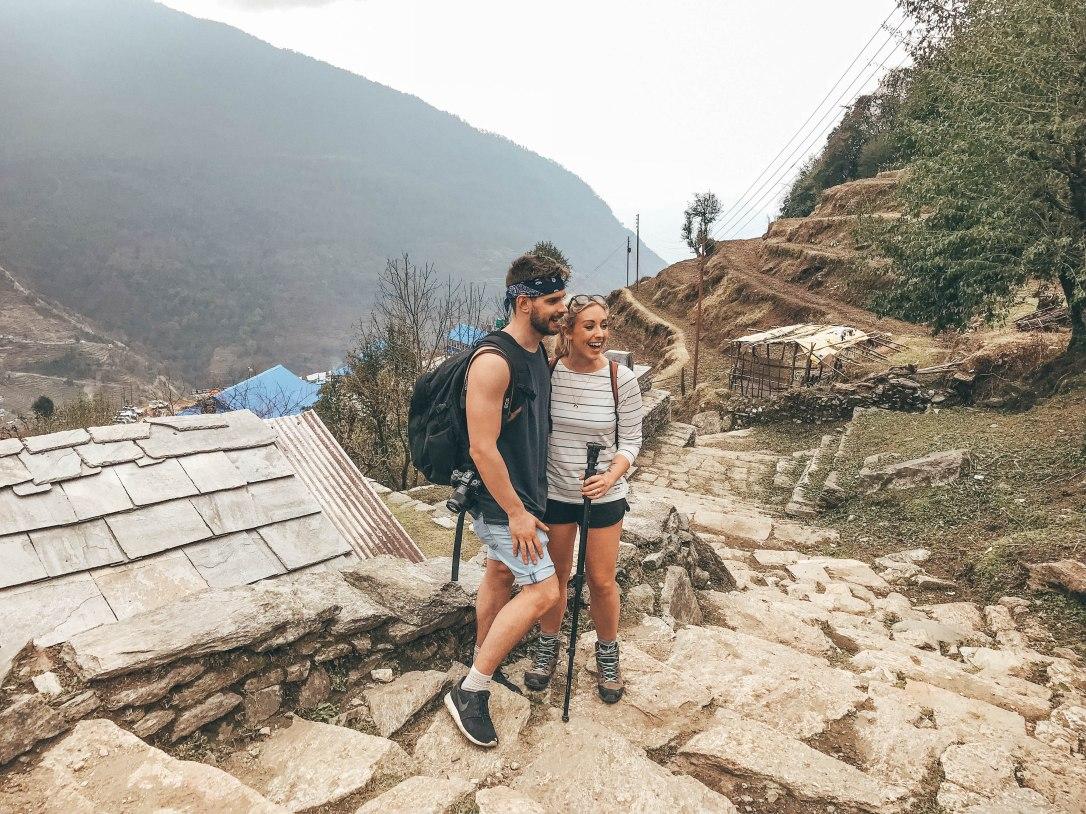 Nepal, Ghorepani - Poonhill, Mountain Range, Annapurna, trek, Couple