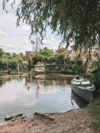 Le Moulin De Vertu, Commune, France, Salt and Coconuts, Village, Boat, Lake