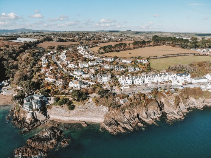 Cornwall, Drone, Sky, Beautiful, Landscape, Picturesque, Views, Salt and Coconuts, Travel, Daqwn French's House, Sea