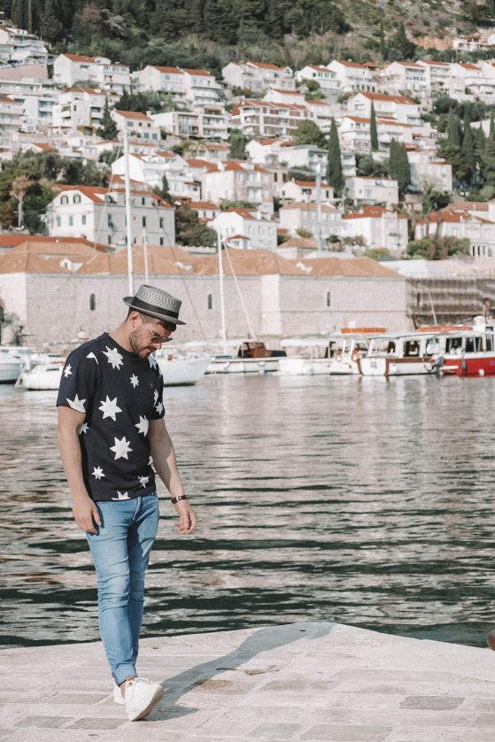 Salt and Coconuts, Travel, Dubrovnik, Croatia, Harbour, Castle, The Old Town, Historic Walls, Boats, Beautiful, Find Louis, Bailey Hats, Farah Clothing, Stars, Portrait