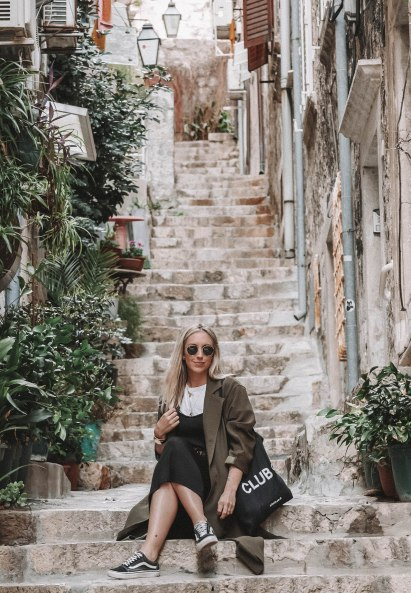 Salt and Coconuts, Steps, Dubrovnik, Croatia, Beautiful, Scenery, Fashion Shot, Portrait, Cool Girl, Sarah Lias, Travel, Explore
