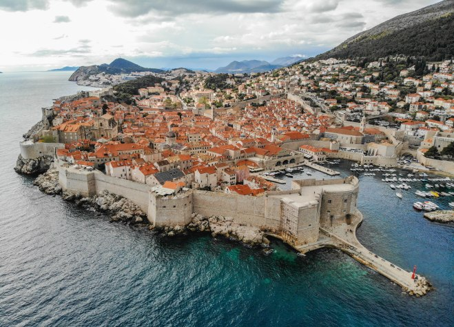 Salt and Coconuts, Dubrovnik, Croatia, DJI, Mavic Air, Drone, Birds Eye View, Historic Buildings, Landscape, Photography, Sea, History