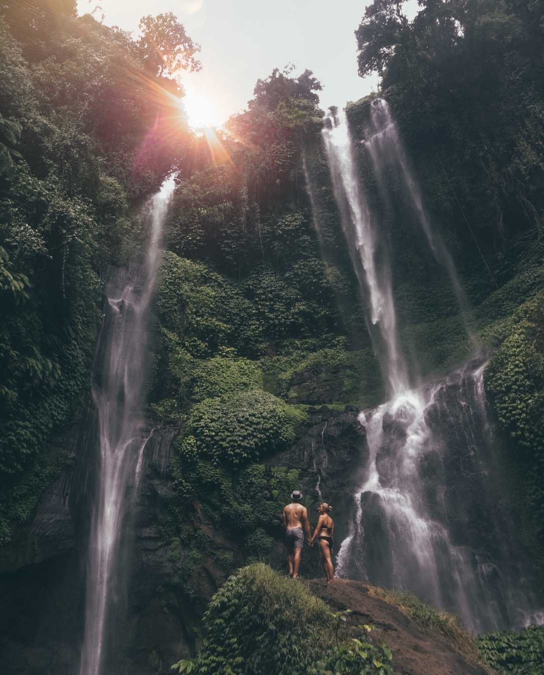 Bali, Sekumpul waterfall, Indonesia Salt and Cocnuts, Find Louis, Louis Russell, Sarah Lias, Couple, Travel, Explore, Jungle, Photography
